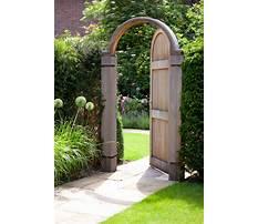 Wooden garden trellis gate Video
