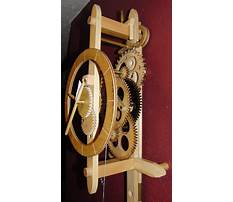 Wooden gear clock plans free download Video