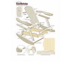 Wooden glider chair plans Video