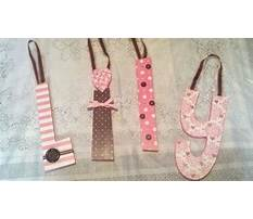 Wooden letters covered in scrapbook paper Video