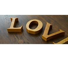 Wooden letters uk Video