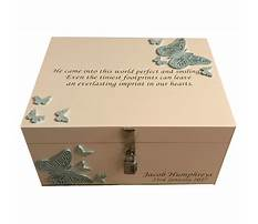 Wooden memory boxes bereavement Video
