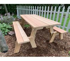 Wooden park bench and table Video