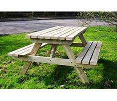 Wooden picnic table plans Video