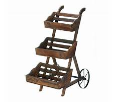 Wooden planter stand plans Video