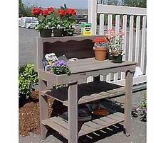 Wooden potting bench bakers Video