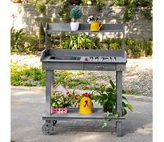 Wooden potting bench bar Video