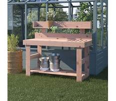 Wooden potting bench bins Video