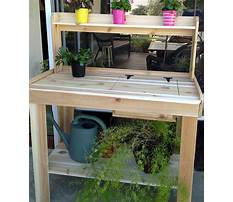 Wooden potting bench blueprints Video