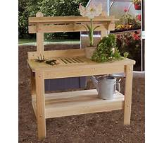 Wooden potting bench braintree Video