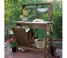 Wooden potting bench bucks Video