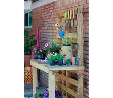 Wooden potting bench building Video
