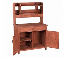 Wooden potting bench by leisure Video