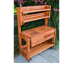 Wooden potting bench plans Video