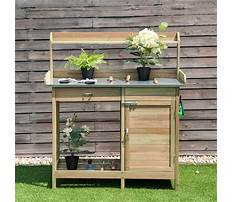 Wooden potting bench table Video
