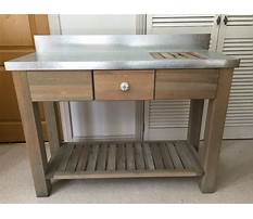 Wooden potting bench with zinc top Video