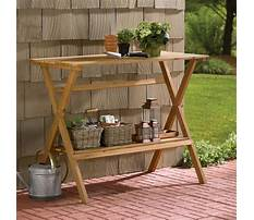 Wooden potting benches Video
