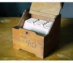 Wooden recipe box dividers Video