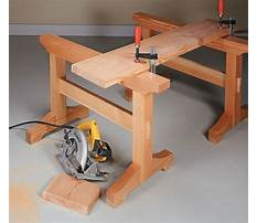 Wooden sawhorse trestle Video
