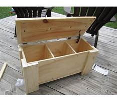 Wooden storage bench plans Video