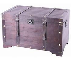 Wooden storage trunk Video