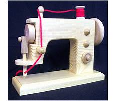 Wooden toy sewing machine plans Video