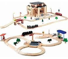 Wooden train set plan toys Video