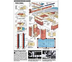 Woodworking plans for a pool table Video