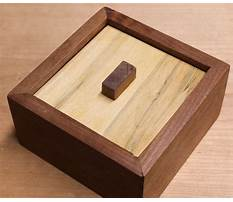 Woodworking puzzle box Video