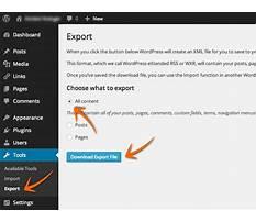 Wordpress xml file Video