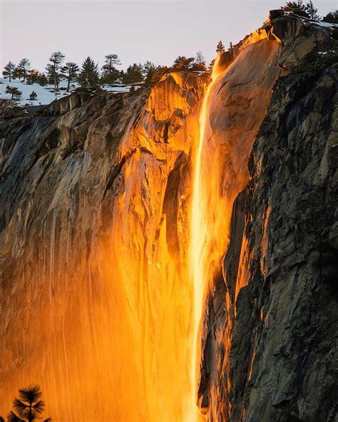 Yosemite National Park Waterfalls Firefall