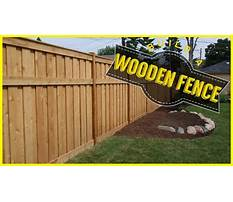 Youtube how to build a wood fence Video