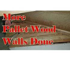 Youtube recycled pallet wood walls Video