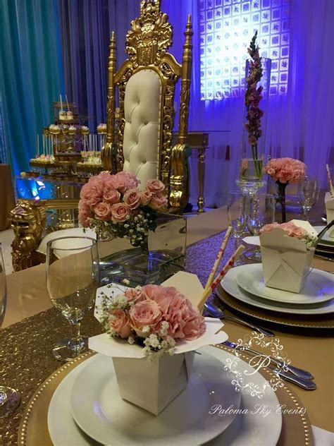 creative place settings   quinceanera party