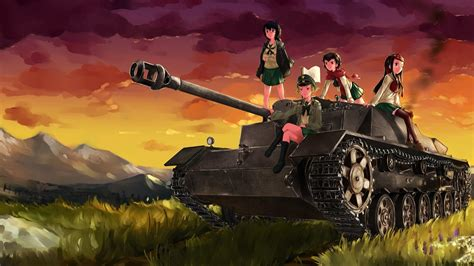 girls und panzer hd wallpaper background image