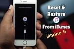 iPhone 5S iTunes Restore