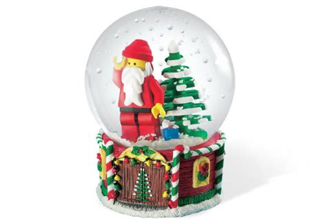 santa minifigure snow globe brickset lego set