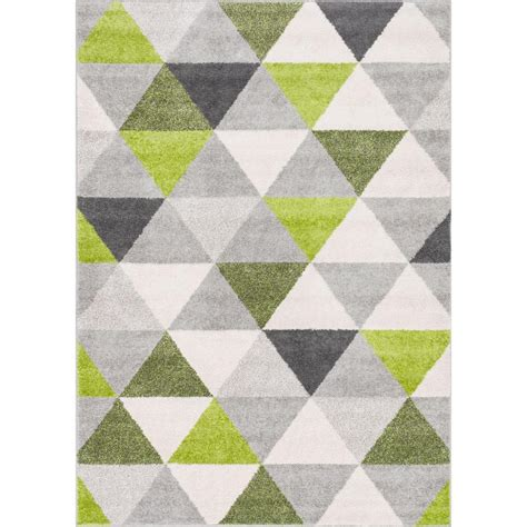 woven mystic alvin modern geometric green  ft